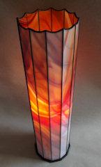 Säulen-Lampe Ovales Feuer, 6 Fotos