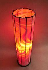Säulen Lampe Rotes Feuer, 4 Fotos