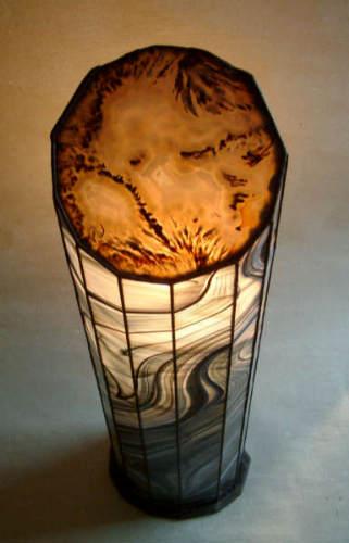 Lamp Big Moss Agate
