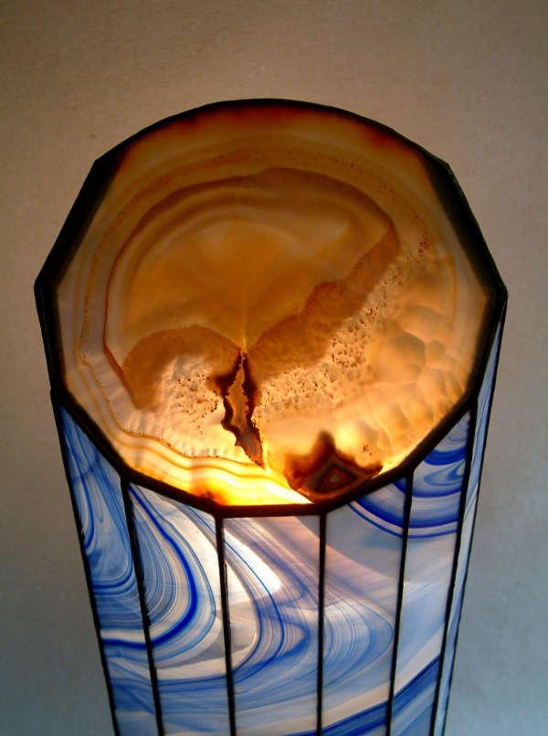 der leuchtende Achat der Lampe Vesuv 79 2te