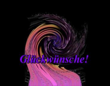 Glueckwunsch Fanfaren Clip blauer Wirbel